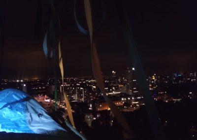 Portaledge bij nacht